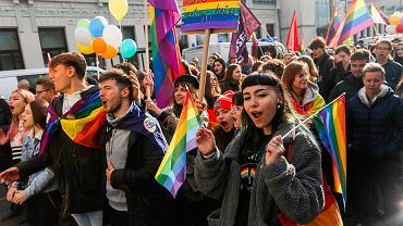 Marszowi Równości w Nowym Sączu towarzyszyła kontrmanifestacja Młodzieży Wszechpolskiej.