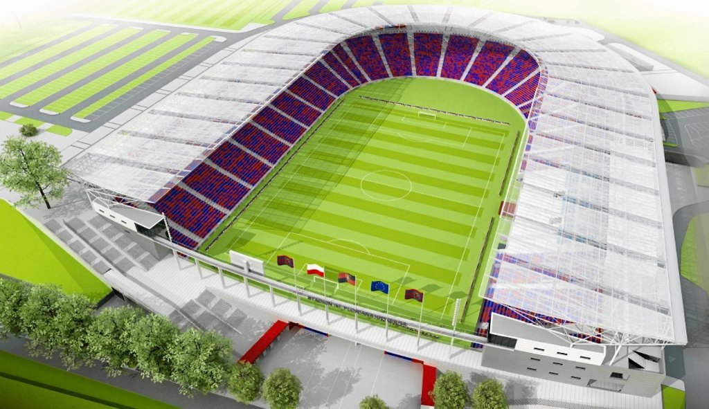 Wizualizacja stadionu Pogoni po planowanej modernizacji