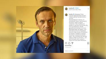 Aleksiej Nawalny wyszedł ze szpitala. Opublikował zdjęcie i złośliwy komentarz
