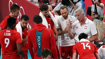 Vital Heynen podczas meczu siatkówki reprezentacji Polski w Tokio