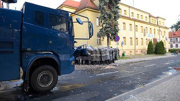 Lubin. Protesty pod Komendą Powiatową po śmierci 34-latka
