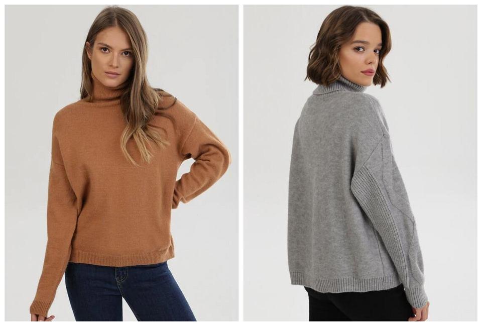 ciepłe swetry damskie