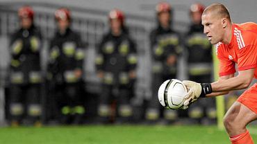Mecz Lech Poznań - AIK Solna. W bramce Ivan Turina