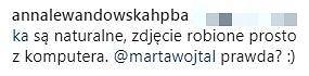 Odpowiedź Anny Lewandowskiej