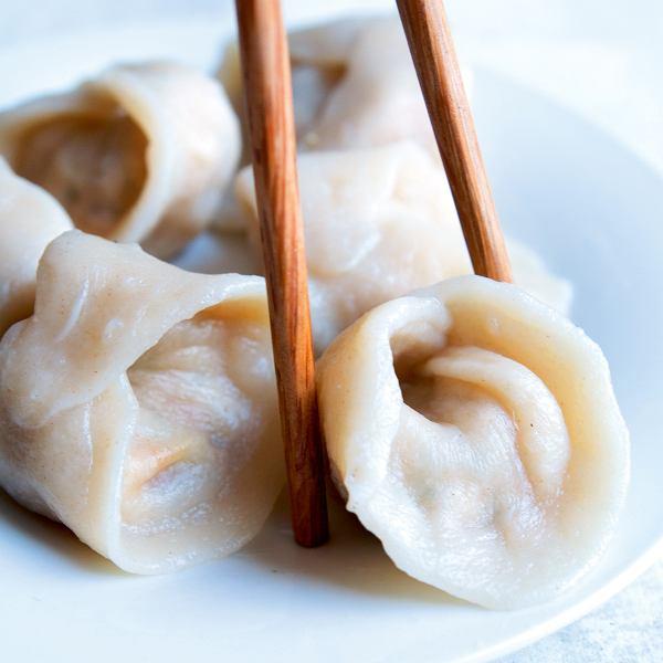 Chińskie pierożki z dynią