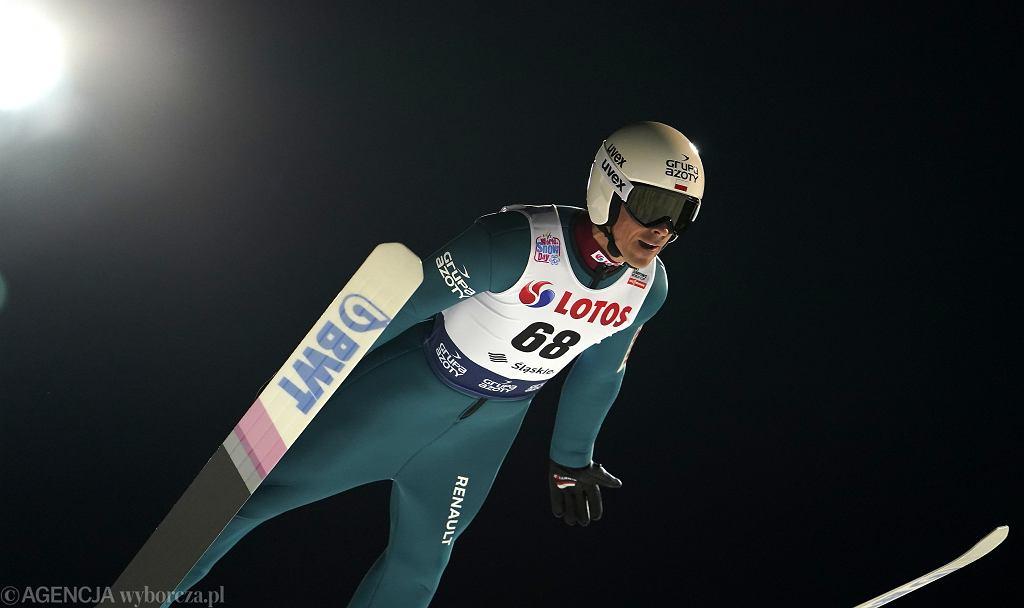 22.11.2019 Wisła . Piotr Żyła podczas skoków narciarskich w ramach Pucharu Świata .