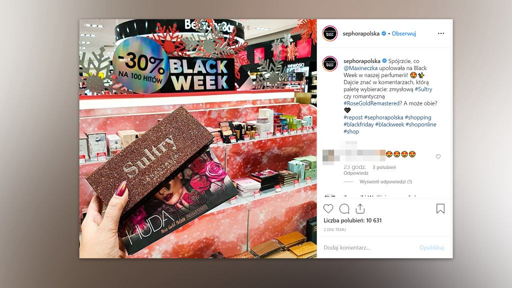 Black Friday 2019: promocje na kosmetyki znajdziemy m.in. w drogerii Sephora