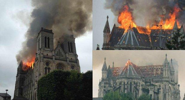Pożar bazyliki w Nantes