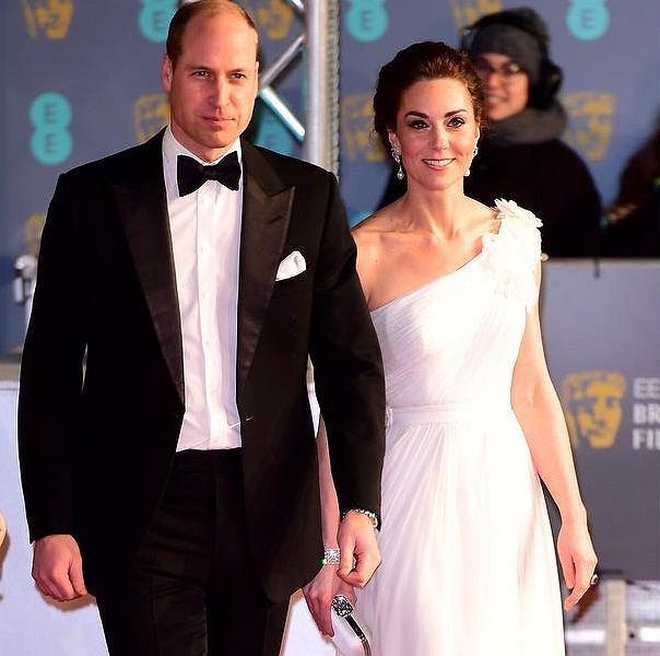Księżna Kate i książę William na BAFTA