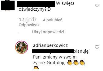 Adrian Berkowicz na Instagramie