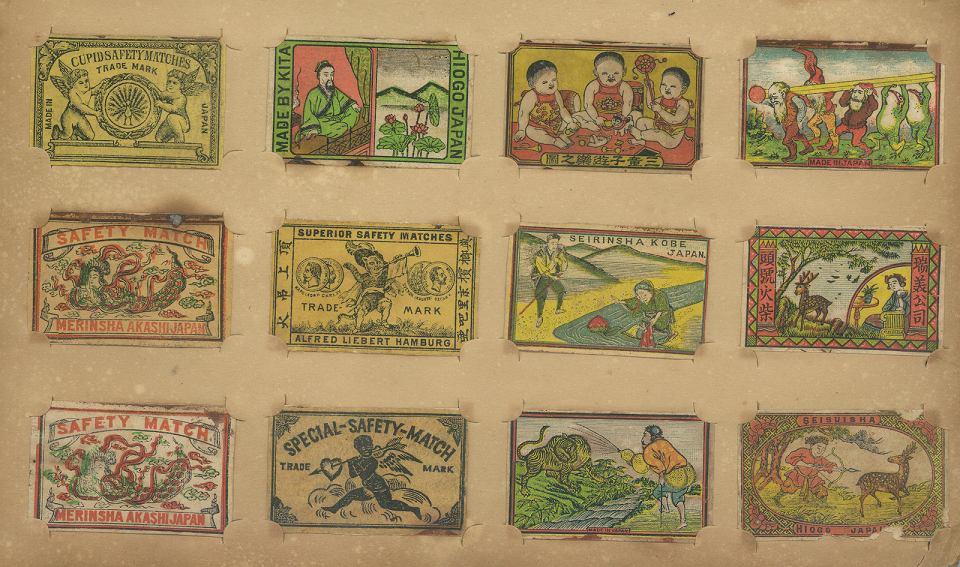 Zapałki z kolekcjonerskimi etykietami.