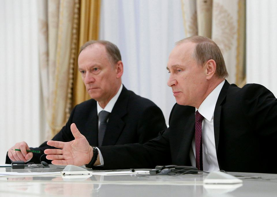 Nikołaj Patruszew i Władimir Putin
