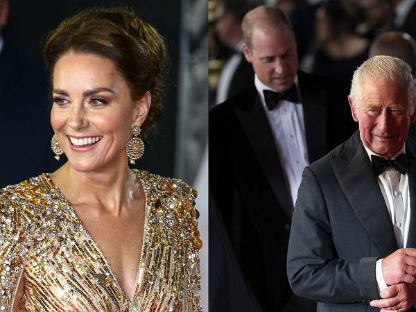 """Rodzina królewska na premierze """"Nie czas umierać"""". To księżna Kate jest prawdziwą dziewczyną Bonda!"""