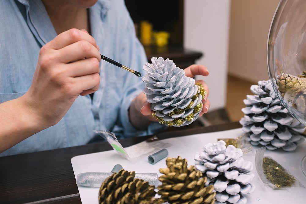 Ozdoby świąteczne DIY - szybki. Zdjęcie ilustracyjne