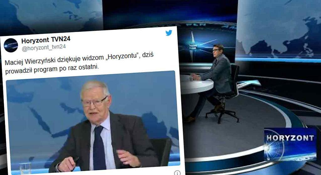 Maciej Wierzyński pożegnał się z widzami programu 'Horyzont'