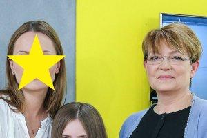 Krystyna Czubówna i jej córka Agnieszka Barjasz
