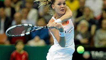 Agnieszka Radwańska podczas turnieju w Katowicach