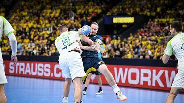 Goteborg, Szwecja. 12 stycznia 2020. Mistrzostwa Europy w piłce ręcznej. Mecz grupy F Szwecja - Słowenia (19:21).