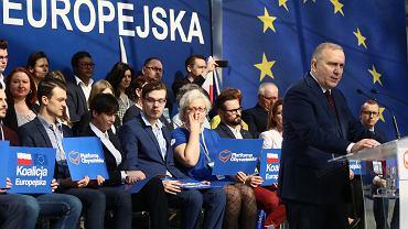Grzegorz Schetyna podczas Rady Krajowej PO.