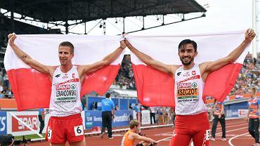 Adam Kszczot i Marcin Lewandowski po po finale biegu na 800 m