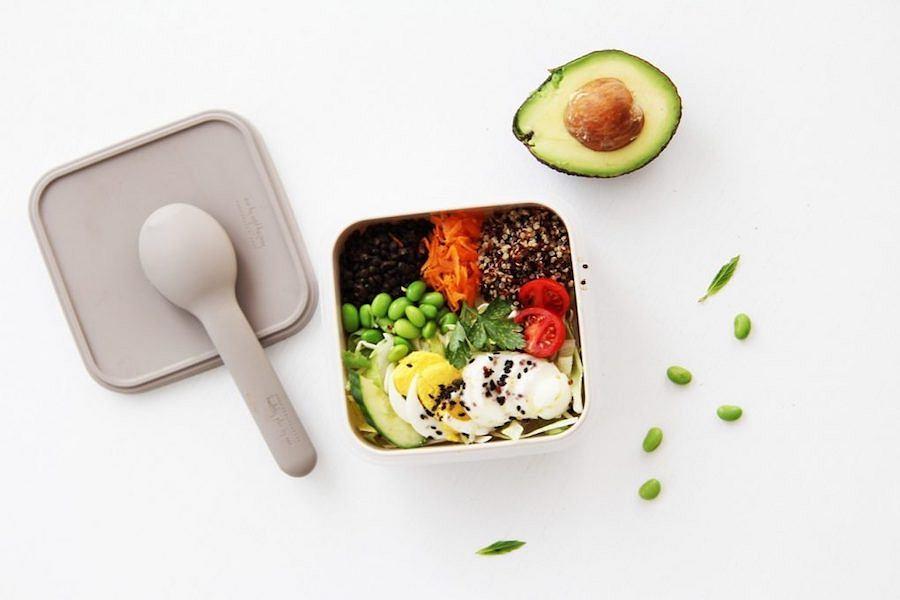 Szary lunch box od marki HPBA