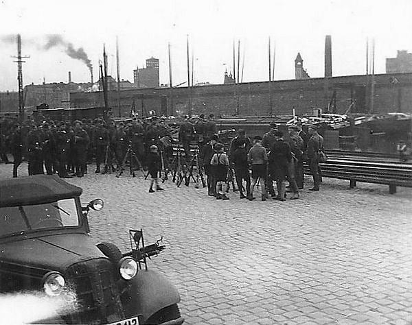 Güterbahnhof (Szczecin Port Centralny) na zdjęciu z niemieckich czasów