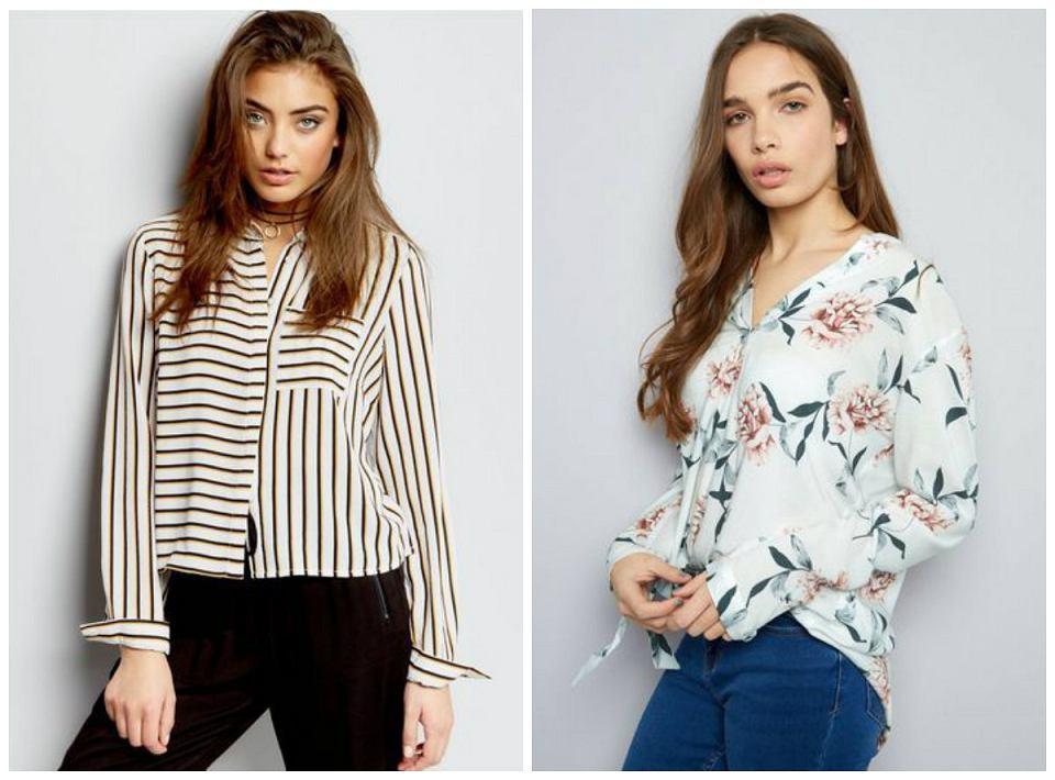 bluzki we wzory