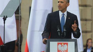Barack Obam w Warszawie z okazji 25. rocznicy wolnych wyborów 4 czerwca