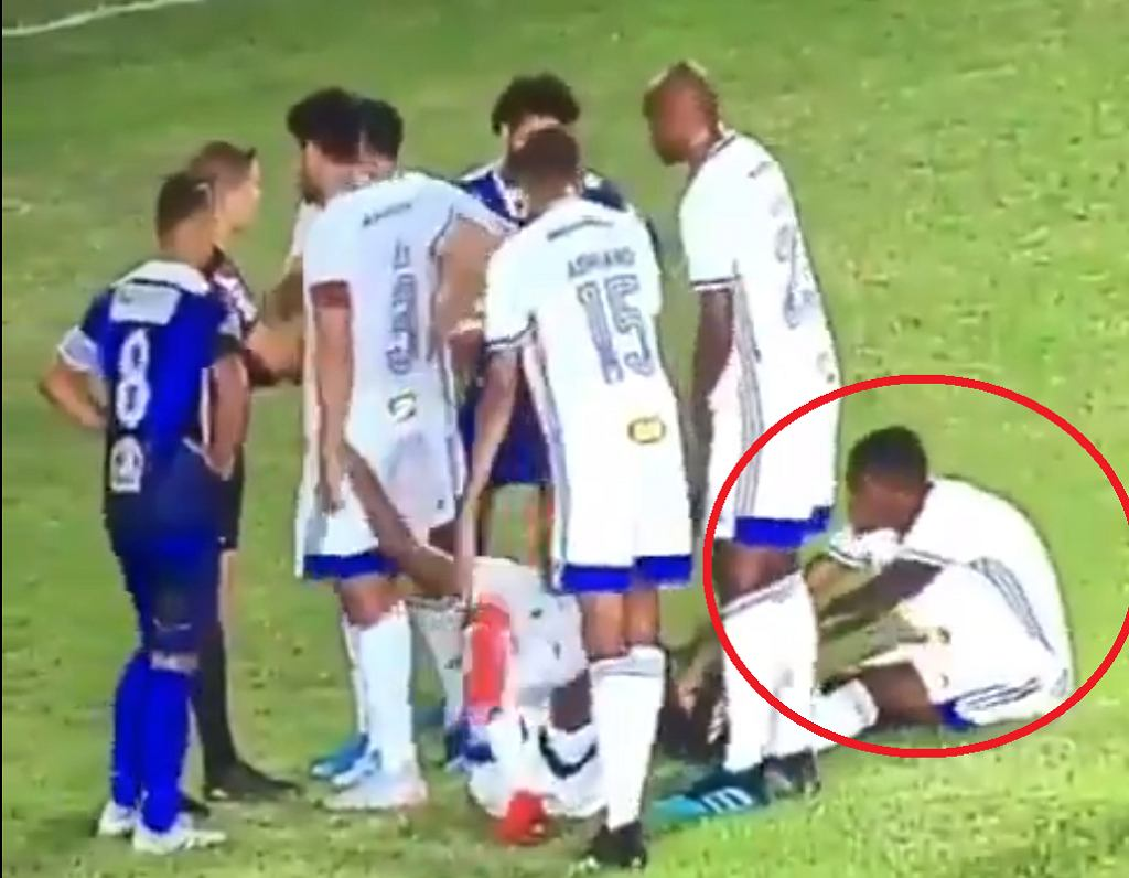 Bezczelna próba oszustwa w wykonaniu piłkarzy Cruzeiro