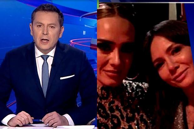 """""""Wiadomości"""" wyemitowały materiał kompromitujący Kingę Rusin. Dziennikarze wyśmiali nie tylko prezenterkę """"Dzień Dobry TVN"""", ale też jej kolegów ze stacji."""