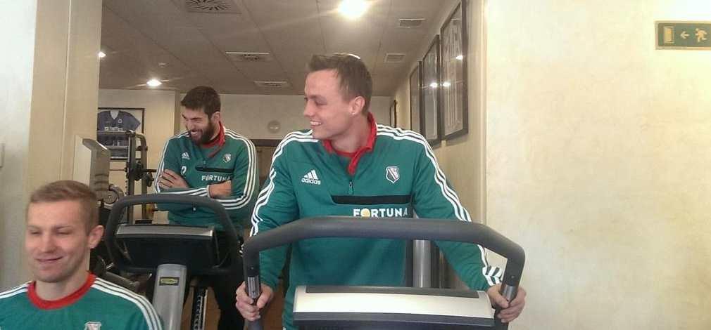 Michał Masłowski już trenuje z Legią na siłowni