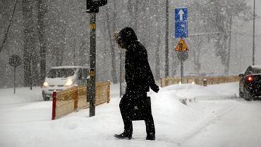 IMGW ostrzega przed intensywnymi opadami śniegu (zdjęcie ilustracyjne)