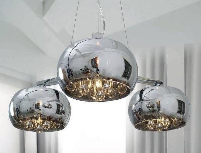 Błyszczące lampy w stylu glamour