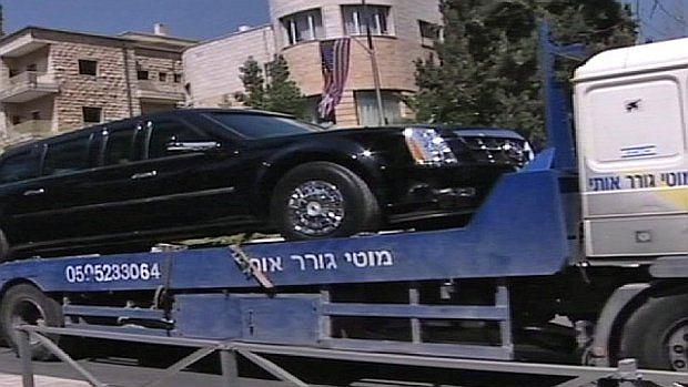 Auto prezydenta na lawecie