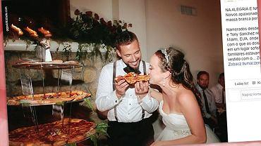 Pizza zamiast tortu weselnego.
