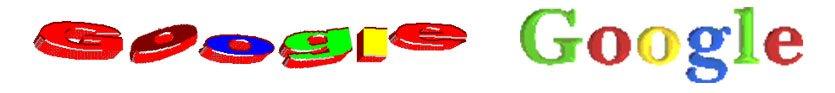 Pierwsze wersje logotypu Google