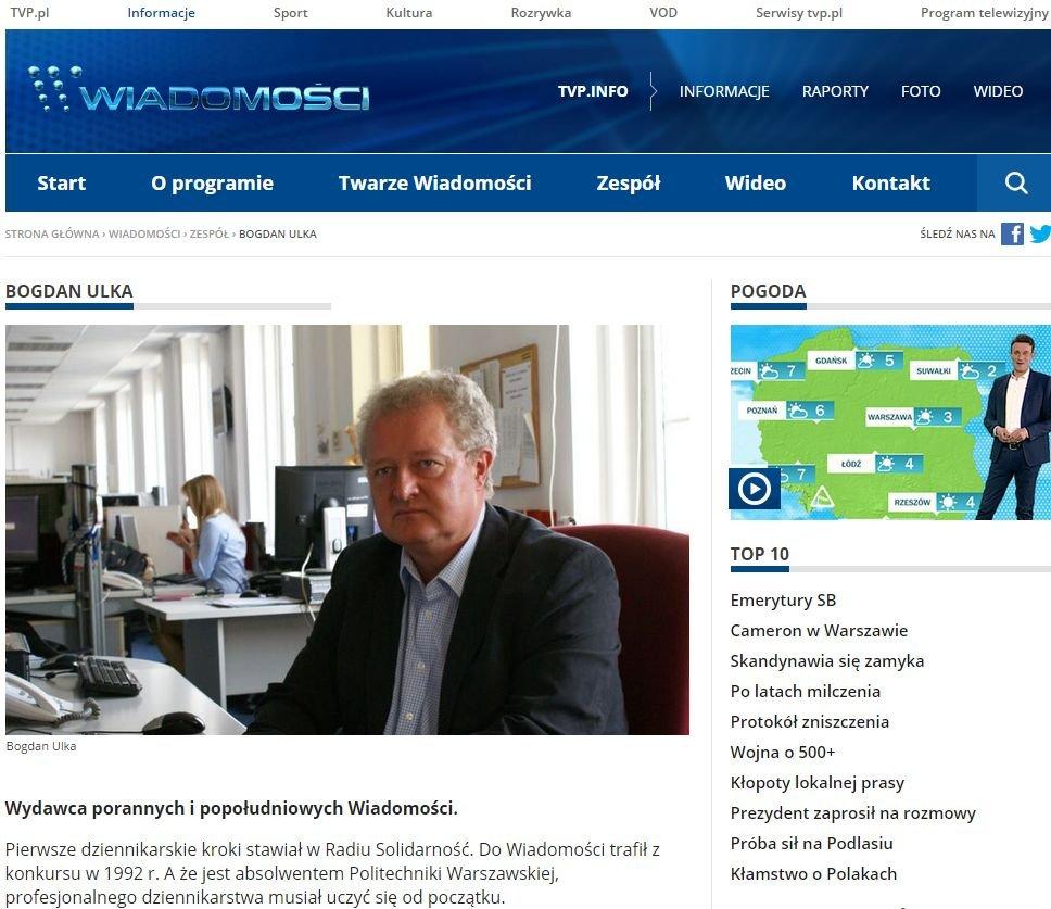 Wirtualne Media Bogdan Ulka Zwolniony Z Tvp Po 24 Latach Pracy