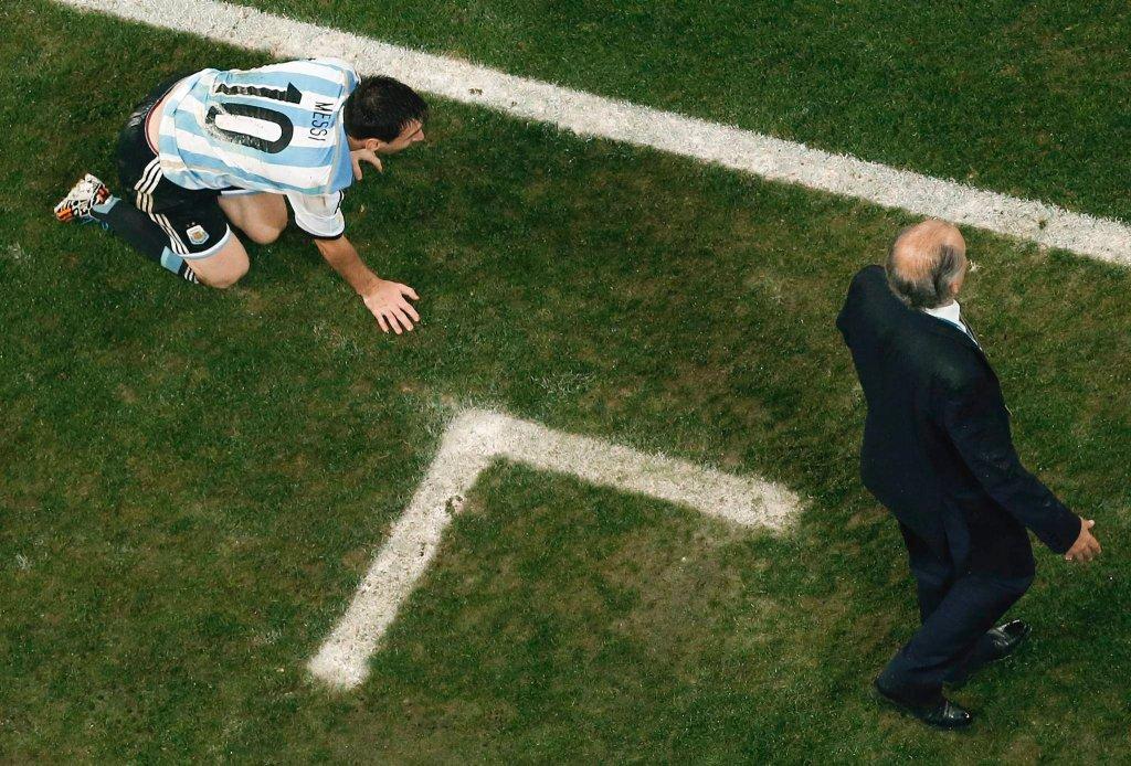 Lionel Messi i Alejando Sabella