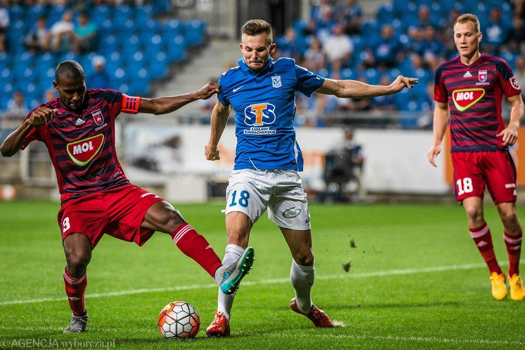 Lech Poznań - Videoton Szekesfehervar 3:0 w pierwszym meczu IV rundy eliminacji do Ligi Europy. Denis Thomalla