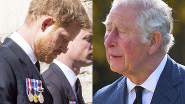 Książę Karol i książę Harry