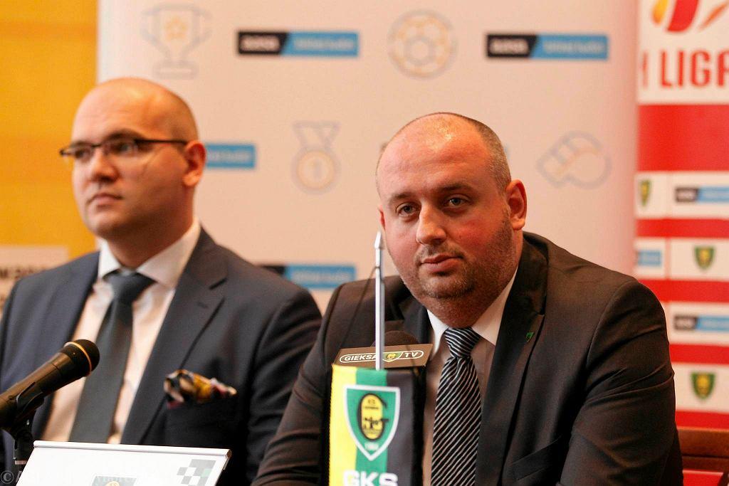Prezes Wojciech Cygan (z prawej) i wiceprezes Marcin Janicki