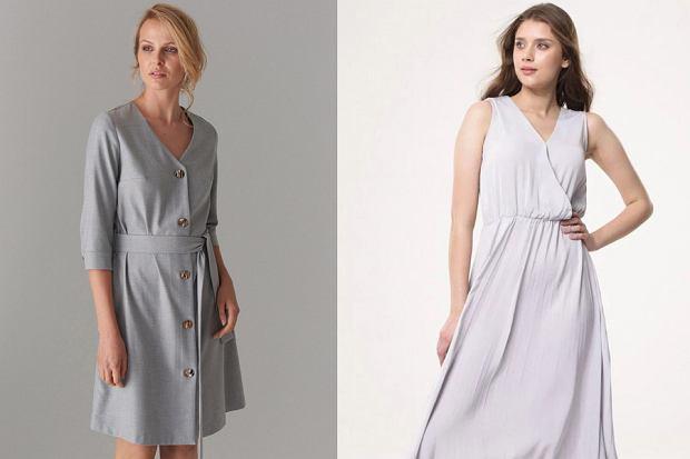 Szara sukienka, fot. mat. partnera