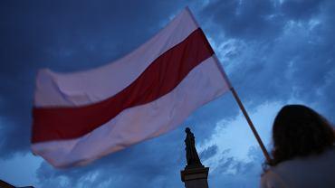 Kraków. Akcja solidarności z Białorusią 'Stop Represjom'