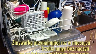 Regularnie też oczyszczajmy filtr zmywarki