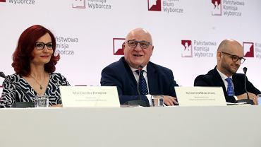 12.07.2020, Warszawa, konferencja prasowa PKW.