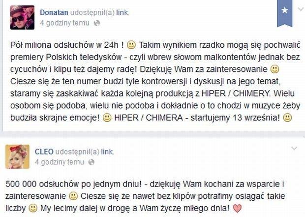 Facebook.com/ Donatan/ Facebook.com/ Cleo