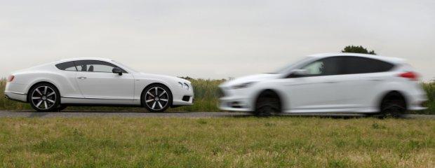 Ford Focus ST TDCi vs. Bentley Continental GT V8 S
