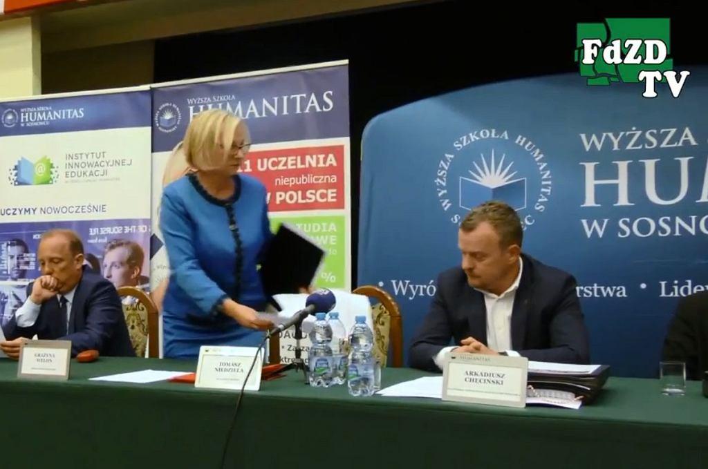 Grażyna Welon opuszcza debatę kandydatów na prezydenta Sosnowca
