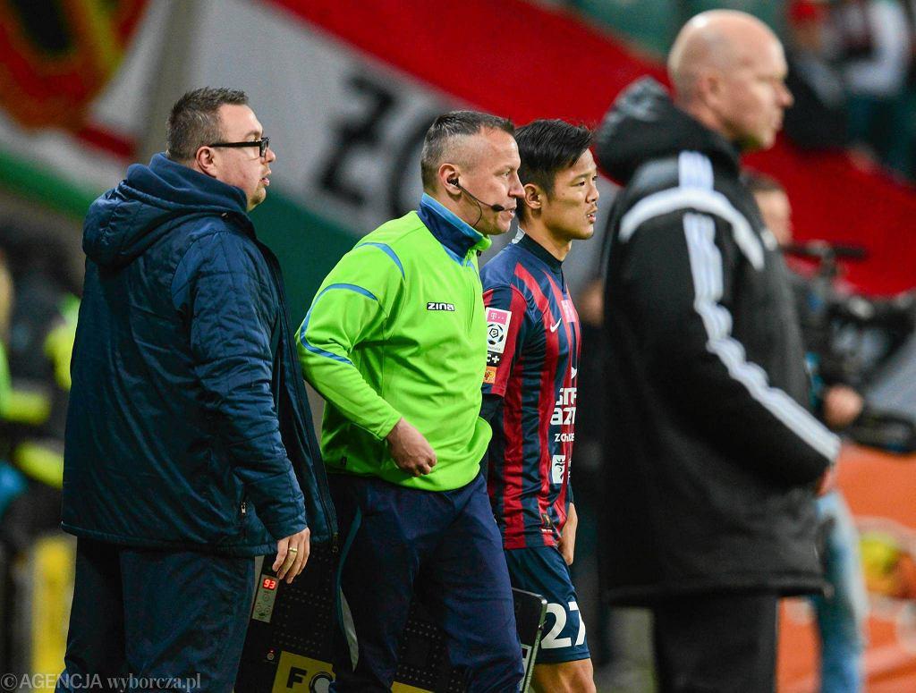 Takafumi Akahoshi był już przygotowany do zmiany w meczu z Legią