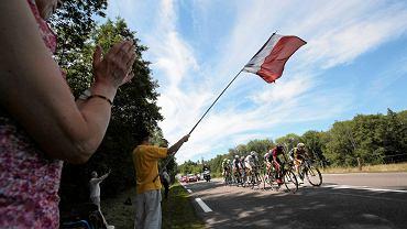 Obrazek dobrze znany z Tour de France - Thomas De Gendt prowadzi ucieczkę